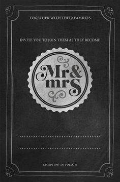 Mr & Mrs, wedding invitations on Pixingo.com