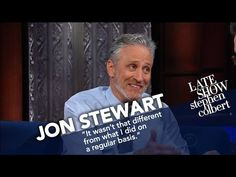 Jon Stewart Ribs Stephen For His Recent Language | Stephen's former boss comes by to catch up on current events, and says he's pretty sure comedians and Presidents shouldn't be held to the same standards of conduct.