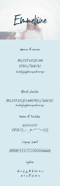 Emmeline is a handwritten brush font that comes with more than 260 characters.  #font #typeface #typegang #typespire #typematters #type #fontdesign #typography #graphicdesign #typographyinspire #handmadefont #creativemarket #ad