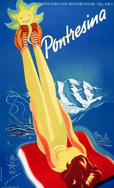 Pontresina  Switzerland  http://vintagevenus.com.au/products/vintage_poster_print-tv305