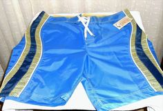 Trunks New Men's Blue Board Shorts Swimming Shorts Size 40 #Trunks #TrunksSwimboardShorts