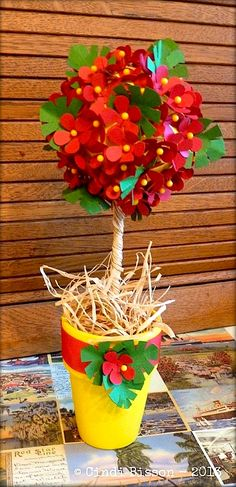 National Craft Month: Tropical hibiscus topiary - SmoothFoam blog