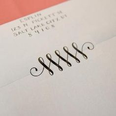 Instead of tape, print this flourish design onto Avery clear address labels! - wonderful alternative to licking all those envelopes! by Hercio Dias