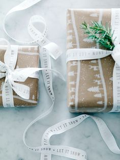 Made from high quality off-white grosgrain with 'Let It Snow' printed in opulent champagne foil throughout the ribbon, our bumper twenty metre reel is perfect for adding the finishing touches to your gifts or to tie around your napkins at the Christmas table. Try teaming with our Midwinter Forest Wrapping Paper and Midwinter Forest Gift Tags for a stylishly wrapped gift.