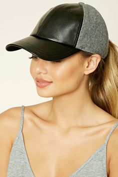 Look and feel your best in Forever 21 activewear and workout clothes for women! Get fit in our sports bras, leggings, shorts, crop tops & more. Leather Baseball Cap, Baseball Hats, Forever 21 Hats, Leather Hats, Athletic Fashion, Sport Girl, Feminine Style, Fitness Fashion, Riding Helmets