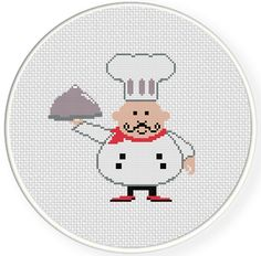 FREE for Feb 11th 2014 Only - Chef Cross Stitch Pattern