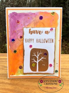 https://flic.kr/p/zP5FiD | Halloween Water Colored Card | I used the SSS Not So Spooky stamp set, the SSS Witches Brew sequins and Zig Clean Color Real Brush Markers for this pretty Halloween card. joysstudiocreations.blogspot.ca/2015/11/flickr-win-simon-...