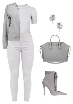 """""""Untitled #2205"""" by meli-g35 ❤ liked on Polyvore featuring Zimmermann, Topshop, Givenchy, Yves Saint Laurent and monochrome"""