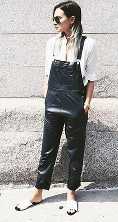 Danielle Bernstein of We Wore What wore the Sienna sandal with her  signature overalls outfit of 0df337d4f0d4