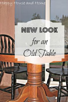 Make an OLD table like NEW! Easy and affodable way to give a kitchen table and your whole kitchen a facelift!   #kitchendecor #kitchen #diytable