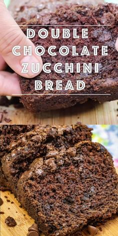 Super-moist, tender and delicious is this Double Chocolate Zucchini Bread. My kids really love this and they don't care that there are veggies in it. It's that good! Easy No Bake Desserts, Delicious Desserts, Baking Recipes, Cake Recipes, Bread Recipes, Vegan Recipes, Cheesecake Desserts, Cheesecake Strawberries, Strawberry Desserts