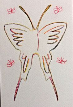 Dimitris Milionis - Butterfly - Signed Colored Pencil Drawing 2015 #PopArt