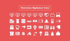 Free Download: 40 Electronic Appliances Icons