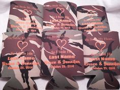 Camo Wedding Koozies Design 1003889697 by odysseycustomdesigns