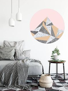 This is a cool new way to display art in your home! This art sticker walldot is printed onto self-adhesive, vinyl fabric. It can be used again and again on different walls and wont lose its stick if used on smooth surface! Just peel it off and stick it on somewhere else. Comes with
