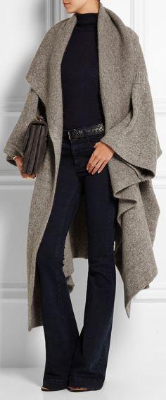 STELLA MCCARTNEY Draped knitted blanket coat