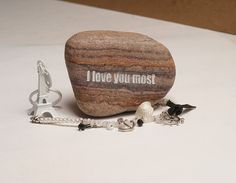 Engraved stone gift Engraved beach pebbles  by LabOfHandmades