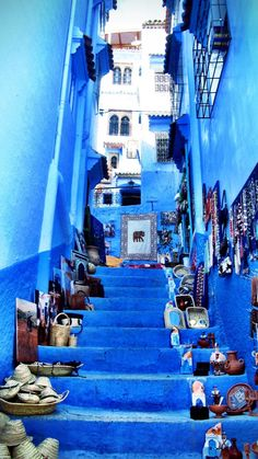 Blue stairs - chefchaouen