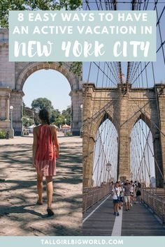 Here are 8 easy ways to have an active vacation in New York City. From free walking tours to this local's favourite walking routes, this post has got you covered.  active things to do in New York City | walking routes New York City | best walks in NYC | things to do in New York City | free things to do in New York City | outdoor things to do in New York City | NYC attractions | NYC day trips | NYC travel tips | NYC travel guide | #NewYork #NewYorkCity #NYC #USA #traveltips New York City Vacation, New York City Travel, Travel Guides, Travel Tips, Travel Destinations, Walking Routes, Visiting Nyc, Free Things, Usa Travel