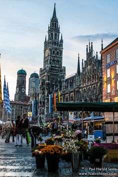 Old Town Hall in the Marienplatz, Munich, Germany . Miss this beautiful city!