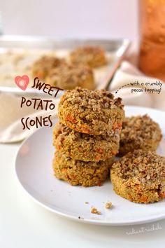 Pecan Crumble-topped Sweet Potato Scones FoodBlogs.com