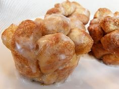 Mini monkey bread baked in muffin tin