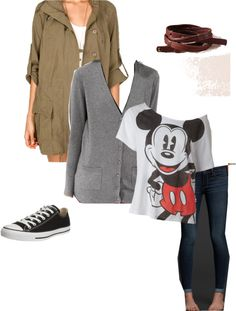"""Mickey Mouse Casual"" by hiddenangel-95 ❤ liked on Polyvore"
