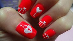 89 Most Fabulous Valentine's Day Nail Art Designs Nail Art Designs 2016, Simple Nail Art Designs, Colorful Nail Designs, Nail Polish Designs, Cute Nail Designs, Nail Polish Colors, Nails Design, Cute Nail Art, Cute Nails