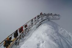 Innsbruck-based architects Astearchitecture completed a mountain-top viewing platform above a glacier in Tyrol, Austria