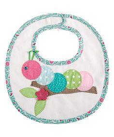 Look at this #zulilyfind! Pink & Blue Polka Dot Caterpillar Bib by Mud Pie…