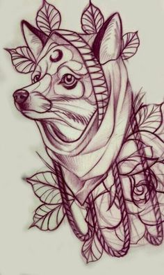 Coyote Tattoo, Fox Tattoo, Wolf Tattoos, Life Tattoos, Tattoo Sketches, Tattoo Drawings, Lechuza Tattoo, Grizzly Bear Tattoos, Mangas Tattoo