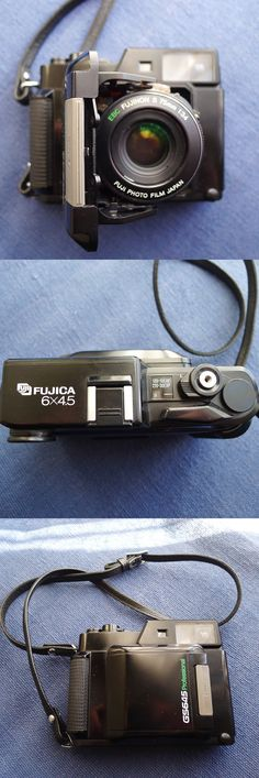 Fujica GS6x4.5 medium format folding film camera. Very good lens (see my examples on Flickr) but mine has sticking shutter so I need to get it fixed then wil use again. Film photography - analogue camera