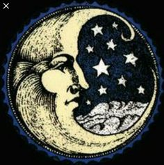 Moon & stars illustration