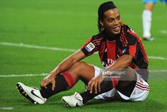Ronaldinho of AC Milan smiles during the Serie A match between AC Milan and Catania Calcio at Stadio Giuseppe Meazza on September 18, 2010 in Milan, Italy.