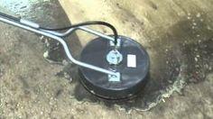 Limpiadores de Superficie, Surface Cleaner en accion con Water Cannon
