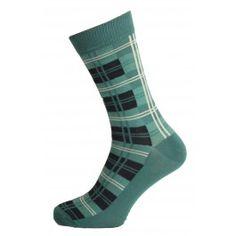 Check Design Green Mens Socks