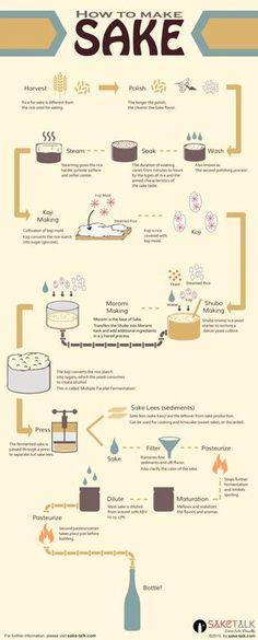 how to make sake infographics