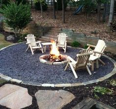 Casual fire pit