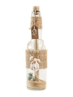 Message in a bottle invitation. Aloha design Perfect for beach weddings or weddings abroad. Customise design to suit you. #wedding www.inviteinabottle.co.uk