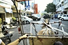 Bendy the traditional transportation from indonesia