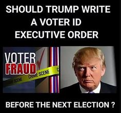 Part of it MUST include voter ID as federal vote acceptance qualification. That still allows many with false documents to steal votes, but reduces much trouble. It even raises USA to equality with more advanced nations like Mexico and Iraq. Voter Id, Trump Is My President, Conservative Politics, Way Of Life, Gangsters, We The People, Donald Trump, Presidents, At Least