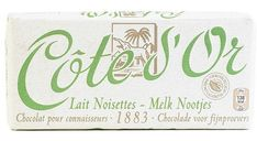 COTE D'OR classique milk chocolate halzenuts 150gr.  Cote d'Or offers authentic intense milk chocolate bars associated with pieces of hazelnuts .Belgian chocolate shop: www.chockies.net