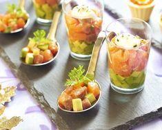 Verrine saumon, avocat et pomme verte