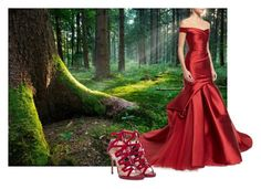 """Once upon a time..."" by vanessalanzafame on Polyvore featuring moda, Monique Lhuillier e Jimmy Choo"