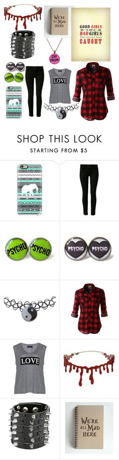 """""""Untitled #7"""" by lukes-girl-22 ❤ liked on Polyvore featuring Casetify, J Brand, Wet Seal, LE3NO, Carmakoma and Topshop"""