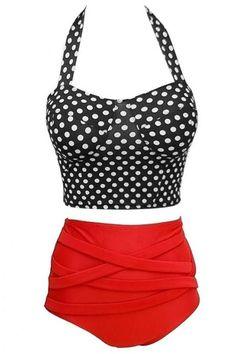 Swimwear Vintage Push Up High Waist Bikini