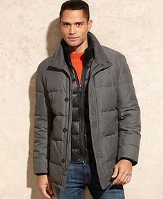 MICHAEL Michael Kors Jacket, Cooper Quilted Bib Puffer Coat