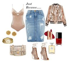 """""""Stepping Out!!!"""" by rekenashavon on Polyvore featuring Current/Elliott, Giuseppe Zanotti, Sans Souci and Chanel"""
