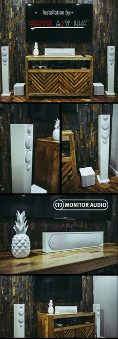 Simple and Elegant #homedecor with Monitor Audio White High Gloss floor standing speakers. An epic #hometheater system!