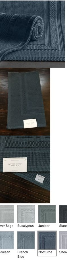 Bathmats Rugs and Toilet Covers 133696: Rh Restoration Hardware Cotton Woven Bath Rug 30 X 50 Nocturne **New** -> BUY IT NOW ONLY: $60 on eBay!
